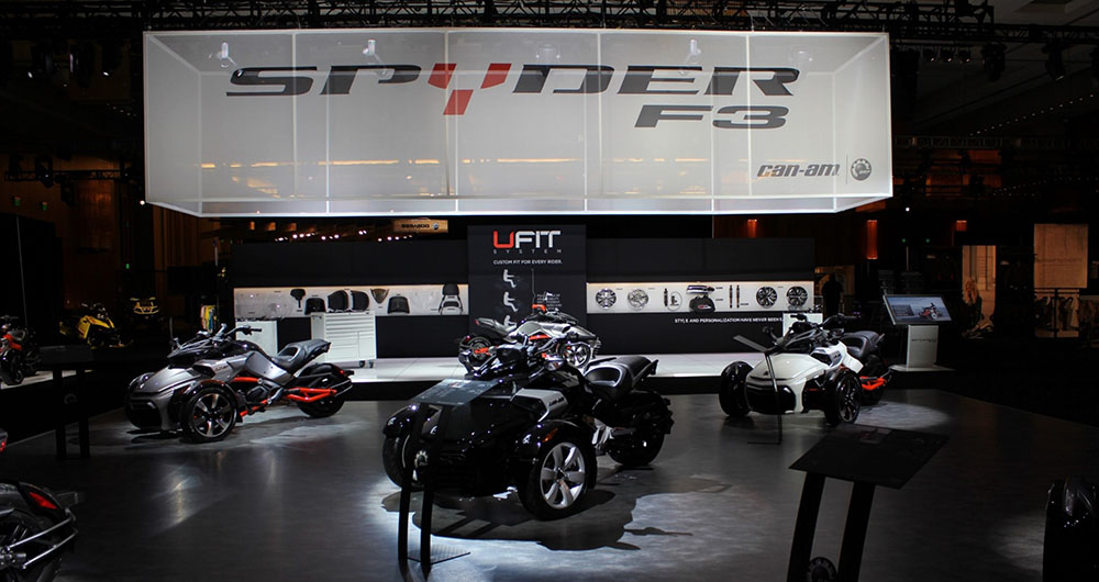 Spyder Showroom for new F3 vehicle
